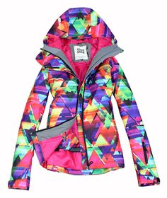2016 women's ski clothes female skateboarding skiing suit skiwear geometric figure ski jacket and hot pink ski pants snow wear Snowboards, Suits For Women, Jackets For Women, Clothes For Women, Ski Clothes, Ladies Jackets, Ski Jackets, Mint Green Pants, Womens Snowboard Jacket