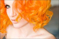 Bright orange hair