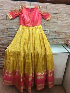 Saved by radha reddy garisa Long Gown Dress, Sari Dress, Anarkali Dress, Anarkali Suits, Lehenga, Sarees, Dress Indian Style, Indian Dresses, Indian Outfits
