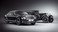 Bentley celebrated 100 years last year, and the 2019 Bentley Mulsanne W.O Edition (left) was inspired by the 1930 Bentley 8 Litre that founder W. Bentley personally owned (right). Bmw, Audi, Porsche, Bentley Motors, Bentley Car, Ferrari, Maserati, Dream Cars, Swatch