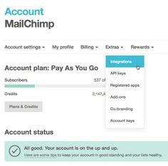 How do I add a MailChimp signup form to my Facebook Page?