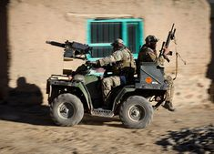 Mounted on ATV Might be Overkill for Duck Season Duck Season, Bug Out Vehicle, Quad Bike, Green Beret, Military Equipment, Special Forces, War Machine, Armed Forces, Military Vehicles