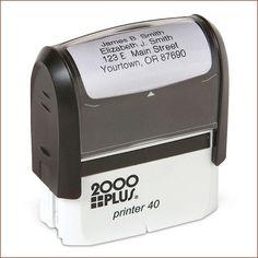 Standard Self-Inking Address Stamp - Black Ink Custom Return Address Labels, Personalized Address Labels, Custom Self Inking Stamps, Self Inking Address Stamp, Custom Stamps, Lillian Vernon, Gifts For Kids, Ink Stamps