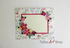 Quilling Greeting Card for Mom's Birthday or Mother's Day by TipTopArtShop