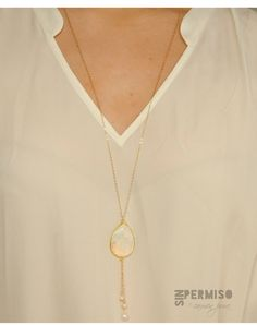 Mother of Pearl delicate tassel necklace,layering necklace,chic tassel necklace,gold chain tassel necklace