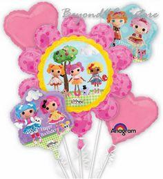La La Loopsy Pirates Happy Birthday 5Pc Mylar Bouquet Balloons Party Favor