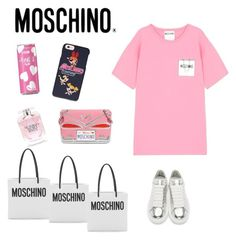 Moschino girls by dali-bazgieva on Polyvore featuring polyvore, fashion, style, Moschino, Alexander McQueen, Victoria's Secret and clothing