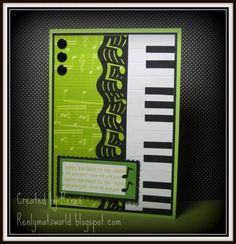 Piano Keyboard Birthday card by Renlymat - Cards and Paper Crafts at Splitcoaststampers