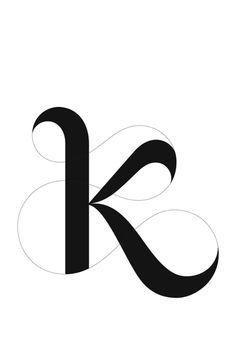 the best letter k tattoo ideas k tattoo Letter K Font, Letter K Tattoo, Letter K Design, Letter Art, Monogram Logo, Monogram Letters, Foto Youtube, Typography Design, Logo Design