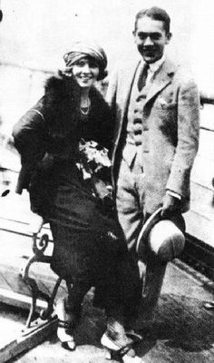 """Jack Pickford and Olive Thomas in 1920 before departing on their tragic """"second honeymoon""""   1933: Jack died at age 36 from complications of chronic syphilis in the American Hospital of Paris, where--ironically--his wife perished in 1920 after ingesting a lethal dose of HIS syphilis medicine, Bichloride of Mercury.  (It took her 5 days to die; he hung on well over a decade following this event).   Jack and Olive were described by Frances Marion  as """"the gayest, wildest brats who ever stirred…"""