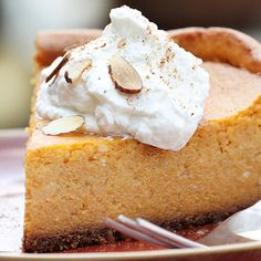 If you want a spin on a classic fall dessert then you've got to try this pumpkin pie cheesecake recipe. Rich, smooth and bursting with flavors of pumpkin