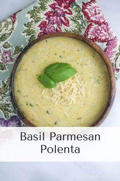 Basil Parmesan Polenta   Slender Kitchen