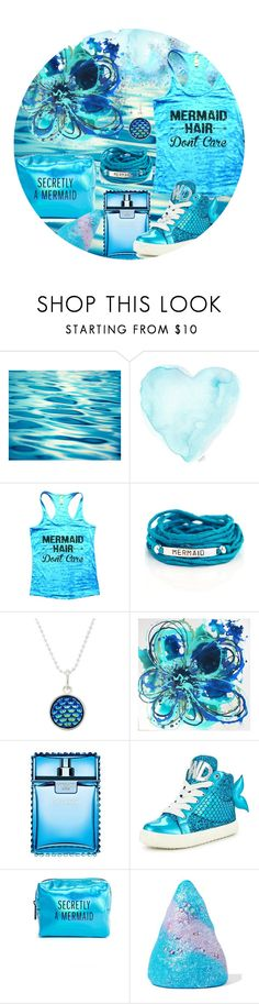 """One Color; Mermaid"" by anastasiia-p8 ❤ liked on Polyvore featuring Blooming Lotus Jewelry, Versace, Miss KG, Pinch Provisions, Sugar Milk Co, Summer, contest, colorful and mermaid"