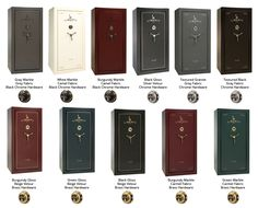 Liberty Franklin Series Gun Safes are available in multiple colors, finishises, and hardware choices.