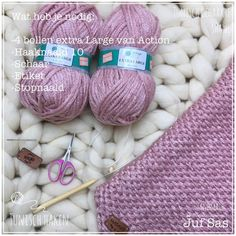 Tunisch gehaakte sjaal handmade by juf Sas Crochet Mat, Starters, Knitting, Sewing, Knits, September, Pink, Crochet Stitches, Ganchillo