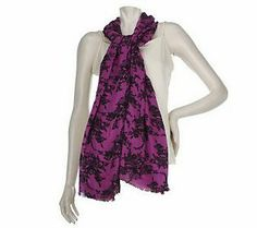 This Joan Rivers Scarf is sure to add a pop of color to any outfit from winter into spring! @Joan Rivers #RadiantOrchid #ColoroftheYear