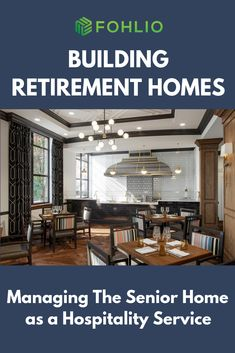 """The senior home competition is pretty stiff. How do you stand out? By remembering that, """"people who move into senior living facilities are looking for the same level of quality they seek in their favorite hotel brands. Small Restaurant Design, Plan Restaurant, Architecture Restaurant, Architecture Design, Sustainable Architecture, Loft Interior, Condo Interior Design, Interior Design Photos, Design Furniture"""