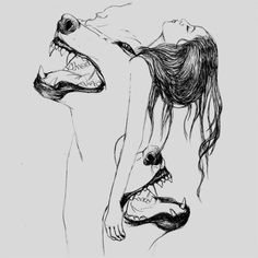 "An old Cherokee told his grandson,""My son, there is a battle between two wolves … – Trend Switchfoot Quotes 2019 Arte Sketchbook, Desenho Tattoo, Wolf Tattoos, Dark Art, Art Inspo, Art Drawings, Pencil Drawings, Illustration Art, Hipster Illustration"