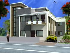 Duplex (2 floors) house design.Click on this link (http://www.apnaghar.co.in/pre-design-house-plan-ag-page-63.aspx) to view free floor plans (naksha) and other specifications for this design. You may be asked to signup and login. Website: www.apnaghar.co.in, Toll-Free No.- 1800-102-9440, Email: support@apnaghar.co.in