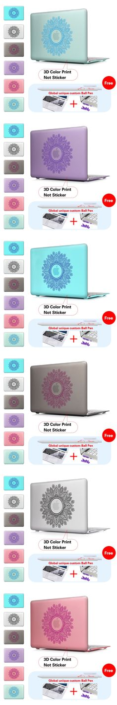 Henna Bandala Designs Patterned Print Crystal Hard Case for Apple Mac Book Pro 13 15 With Retina New Macbook 12 For Air 11 13