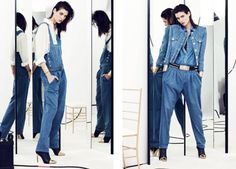 Denim - Balmain Resort 2014 ~ Not that I don't like to say I told you so, denim overalls & heels, I've been wearing since I popped the $10 tag on mine, albeit 5 years ago...