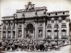 Giacomo Brogi – Fontana di Trevi, Roma, ca 1870 Emperor Augustus, Trevi Fountain, Notre Dame, Rome, Louvre, City, Travel, Voyage, Viajes