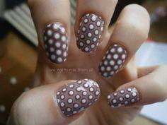 Polka dot nails :D