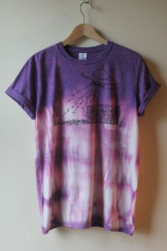 Tie Dye Screen Printed UFO design TShirt by NellysTreasuresUK, £18.00