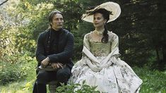 Mads Mikkelsen as Johann Friedrich Struensee and Alicia Vikander as Queen Carolina Matilda of Denmark and Norway in A Royal Affair Alicia Vikander, A Royal Affair, Beau Film, 18th Century Dress, 18th Century Fashion, Period Costumes, Movie Costumes, Mads Mikkelsen, Historical Costume