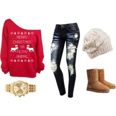 Winter Outfit .... I really want that sweater!