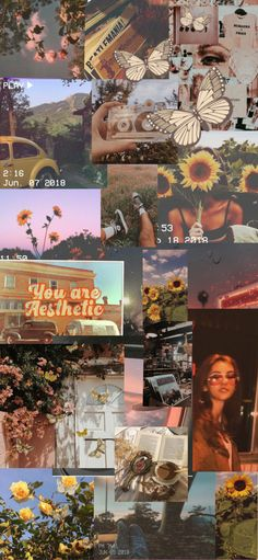 Vintage aesthetic Collage wallpaper
