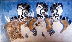 Minoan fresco. Someday I'll do my hair this way...