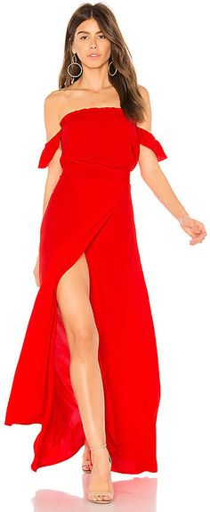 Melisandre red flowy backless maxi prom dress | Maxi prom dresses ...