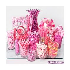 Pink Candy Buffets ❤ liked on Polyvore