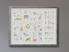 Nursery Wall Art Alphabet Print Alphabet by NordicDesignHouse