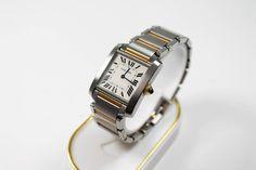 Cartier Tank francaise Damenarmbanduhr Stahl und Gold weisses Zifferblatt mit römischen Ziffern https://www.ipfand.de/luxusuhren