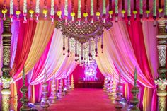 A Telugu Wedding That Sends Out Waves Of Colour And Grandeur Desi Wedding Decor, Wedding Stage Decorations, Wedding Mandap, Wedding Ideas, Wedding Table, Hall Decorations, Wedding Canopy, Wedding Venues, Wedding Photos