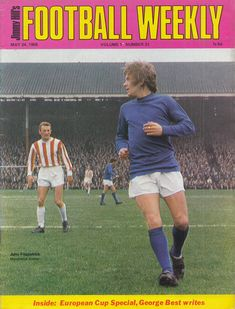 March Manchester United utility back John Fitzpatrick watched by Stoke City inside forward George Eastham, at the Victoria Ground. Manchester United Players, European Cup, Stoke City, 30th, March, Victoria, The Unit, Football, Classic