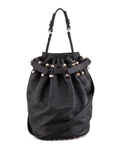 Diego Bucket Bag, Black/Rose Golden Hardware by Alexander Wang at Bergdorf Goodman.