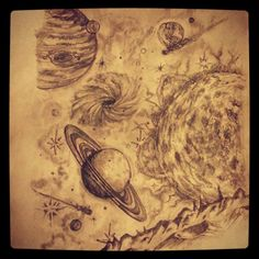 Space tattoo sketch by - Ranz