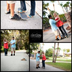 Engagement photo with skateboards. Jonathan would love this!