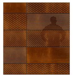 Metal Facade, Metal Screen, Perforated Metal Panel, Metal Panels, Facade Design, Wall Design, Steel Cladding, Weathering Steel, Corten Steel