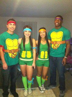 Womens ninja turtle t shirt and paint my hair and face green ninja turtle halloween costumes solutioingenieria Gallery