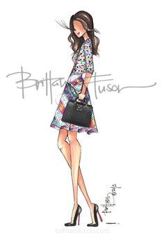 A special illustration commemorating a big birthday with the client pictured in one of her favorite outfits! Happy Birthday Doll, Fashion Art, Fashion Outfits, Fashion Ideas, Fashion Figures, Fashion Design Sketches, Brittany, Girly Things, Wearable Art