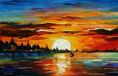 50 Beautiful Sunrise Sunset and Moon Paintings for your inspiration 5 sunrise painting leonid afremov Sunrise Painting, Moon Painting, Oil Painting On Canvas, Painting Prints, River Painting, Painting Art, Modern Art Deco, Beautiful Sunrise, Leonid Afremov Paintings