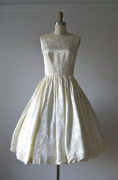 vintage 1950s dress / 50s white formal dress / Snow by Dronning