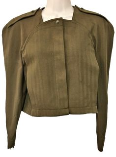 Thierry Mugler Paris Jacket, Vintage Couture, Cropped Boxy, Sz 40 French/8 US | eBay