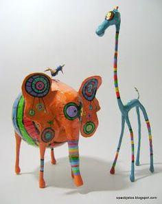muñecos con alambre y papel - Buscar con Google