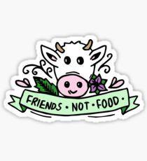 Vegan Friends Not Food Tumblr Sticker