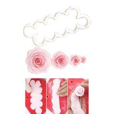 """Découpoir """"Rose facile"""" FMM ROSE 3D"""